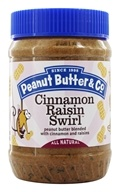 Peanut Butter & Co. - Cinnamon Raisin Swirl Peanut Butter Blended with Cinnamon and Raisins - 16 oz.