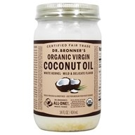 Image of Dr. Bronners - Magic Fresh-Pressed Virgin Coconut Oil White Kernel Unrefined - 14 oz.