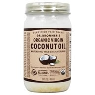 Dr. Bronners - Magic Fresh-Pressed Virgin Coconut Oil White Kernel Unrefined - 14 oz. by Dr. Bronners