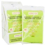 Emerita - Feminine Hygiene Cleansing Moisturizing Cloths with Refreshing Soothing Organics - 15 Cloth(s)