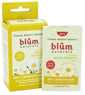 Blum Naturals - Daily Cleansing & Makeup Remover Towelettes Dry & Sensitive Skin - 10 Towelette(s) (895045000425)