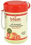 Blum Naturals - All-Purpose Cleansing Wipes Mini Canister Pack Citrus Scent - 30 Wipe(s) (895045000821)