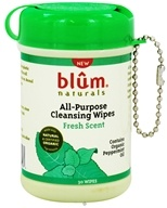 Blum Naturals - All-Purpose Cleansing Wipes Mini Canister Pack Fresh Scent - 30 Wipe(s)