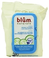Blum Naturals - Daily Cleansing & Makeup Remover Towelettes Normal Skin - 30 Towelette(s) - $5.19