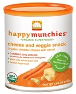 HappyBaby - HappyMunchies Organic Cheese & Veggie Snack Organic Cheddar Cheese With Carrot - 1.63 oz.