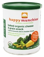 HappyBaby - Happy Munchies Organic Cheese & Veggie Snack Organic Broccoli, Kale & Cheddar Cheese - 1.63 oz. (852697001682)