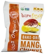 Bare Fruit - 100% Organic Bake-Dried Mangos - 2.2 oz.