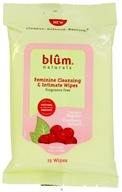 Blum Naturals - Feminine Cleansing & Intimate Wipes Fragrance Free - 15 Wipe(s)