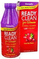 Detoxify Brand - Ready Clean Herbal Cleanse For Women Fortified with Cran Xtract Cran-Tea Flavor - 16 oz.