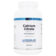 Douglas Laboratories - Calcium Citrate - 250 Tablets, from category: Professional Supplements
