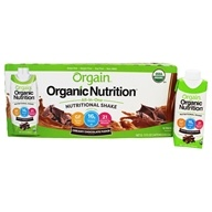 Orgain - Organic Ready To Drink Meal Replacement Creamy Chocolate Fudge - 12 Pack by Orgain