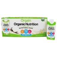 Orgain - Organic Ready to Drink Nutritional Shake Sweet Vanilla Bean - 12 Pack