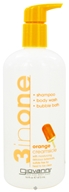 Image of Giovanni - 3 in One Shampoo, Bodywash and Bubblebath Orange Creamsicle - 16 oz.