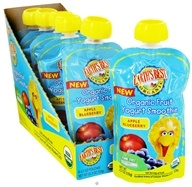 Image of Earth's Best - Organic Fruit Yogurt Smoothie Apple Blueberry - 4.2 oz.