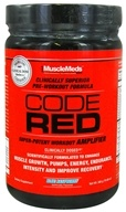 Image of MuscleMeds - Code Red Super-Potent Workout Amplifier Blue Raspberry - 300 Grams CLEARANCE PRICED
