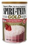 Image of Nature's Plus - Spiru-Tein Gold High Protein Energy Meal Powder Strawberry - 1.03 lbs.