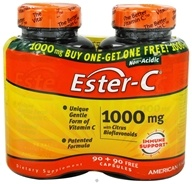 American Health - Ester C With Citrus Bioflavonoids BOGO Size 1000 mg. - 180 Capsules 90+90 FREE, from category: Vitamins & Minerals
