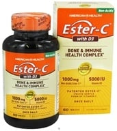 American Health - Ester C With 5000 IU D3 1000 mg. - 60 Tablets, from category: Vitamins & Minerals