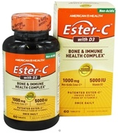 American Health - Ester C With 5000 IU D3 1000 mg. - 60 Tablets (076630347105)