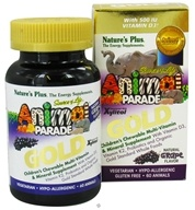 Nature's Plus - Source of Life Animal Parade Gold Children's Chewable Multi-Vitamin & Mineral Natural Grape Flavor - 60 Chewable Tablets, from category: Vitamins & Minerals