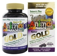 Image of Nature's Plus - Source of Life Animal Parade Gold Children's Chewable Multi-Vitamin & Mineral Natural Grape Flavor - 120 Chewable Tablets