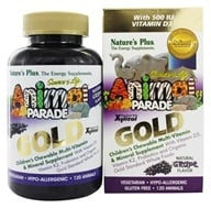 Nature's Plus - Source of Life Animal Parade Gold Children's Chewable Multi-Vitamin & Mineral Natural Grape Flavor - 120 Chewable Tablets - $18.34