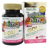 Image of Nature's Plus - Source of Life Animal Parade Gold Children's Chewable Multi-Vitamin & Mineral Natural Watermelon Flavor - 60 Chewable Tablets