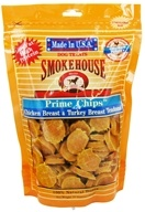 Smokehouse Pet Products - Prime Chips Dog Treats Chicken Breast & Turkey Breast Tendons - 16 oz. by Smokehouse Pet Products