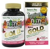 Nature's Plus - Source of Life Animal Parade Gold Children's Chewable Multi-Vitamin & Mineral Natural Watermelon Flavor - 120 Chewable Tablets (097467299382)