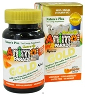 Nature's Plus - Source of Life Animal Parade Gold Children's Chewable Multi-Vitamin & Mineral Natural Orange Flavor - 60 Chewable Tablets by Nature's Plus