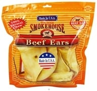 Smokehouse Pet Products - Beef Ears Dog Treats - 4 Pack (078565854123)