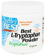 Doctor's Best - Best L-Tryptophan Powder Featuring Ajinomoto's TryptoPure 500 mg. - 50 Grams