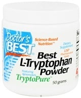 Doctor's Best - Best L-Tryptophan Powder Featuring Ajinomoto's TryptoPure 500 mg. - 50 Grams, from category: Nutritional Supplements