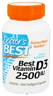 Image of Doctor's Best - Best Vitamin D3 2500 IU - 360 Softgels