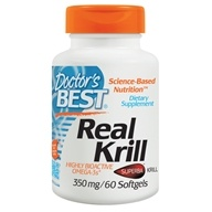 Doctor's Best - Real Krill Antarctic Krill Oil Complex 350 mg. - 60 Softgels by Doctor's Best