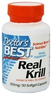 Doctor's Best - Real Krill Antarctic Krill Oil Complex 350 mg. - 30 Softgels by Doctor's Best