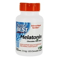 Doctor's Best - QuickMelt Melatonin 2.5 mg. - 120 Chewable Tablets by Doctor's Best