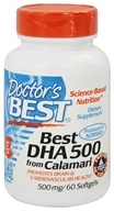 Doctor's Best - Best DHA 500 From Calamari 500 mg. - 60 Softgels - $21.41