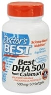 Doctor's Best - Best DHA 500 From Calamari 500 mg. - 60 Softgels by Doctor's Best