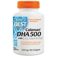 Doctor's Best - Best DHA 500 From Calamari 500 mg. - 180 Softgels (753950002609)