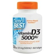 Doctor's Best - Best Vitamin D3 5000 IU - 360 Softgels