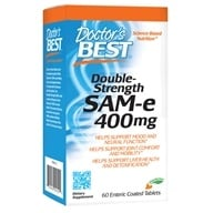 Doctor's Best - SAMe 400 Double Strength 400 mg. - 60 Enteric-Coated Tablets - $35.68
