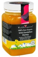 Wedderspoon Organic - 100% Raw Organic Wild Dandelion Honey - 17.6 oz. (094922751263)