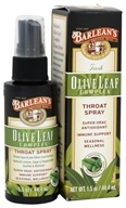 Barlean's - Fresh Olive Leaf Complex Throat Spray Soothing Peppermint Flavor - 1.5 oz. by Barlean's
