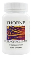Thorne Research - UltraChrome-500 mcg. - 60 Vegetarian Capsules - $12.20