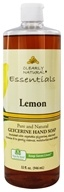 Clearly Natural - Natural Hand Wash Liquid Soap Refill Lemon - 32 oz. Formerly Citrus Magic