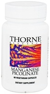 Thorne Research - Manganese Picolinate 15 mg. - 60 Vegetarian Capsules