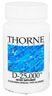 Thorne Research - D-25,000 IU - 60 Vegetarian Capsules - $20.85