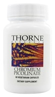 Thorne Research - Chromium Picolinate 500 mcg. - 60 Vegetarian Capsules