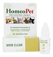 HomeoPet - Wrm Clear Liquid Drops For Pets - 15 ml. (704959147143)